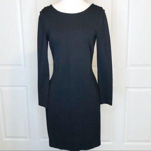 Banana Republic Dress 8 Black Long Sleeve Vneck